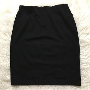 Philosophy Black Skirt With Gold Hardware Sz 6